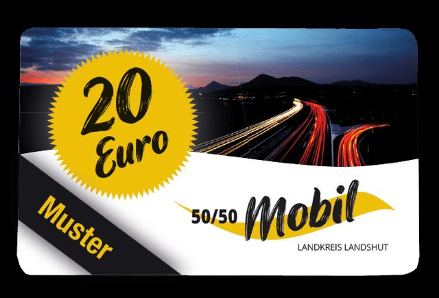 Wertgutschein für Taxifahrt in Landshut