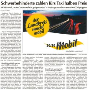 Schwerbehinderte zahlen fürs Taxi den halben Preis